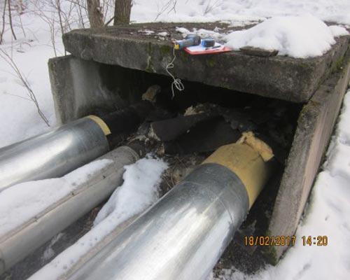 Техническое обследование трубопроводов теплотрассы
